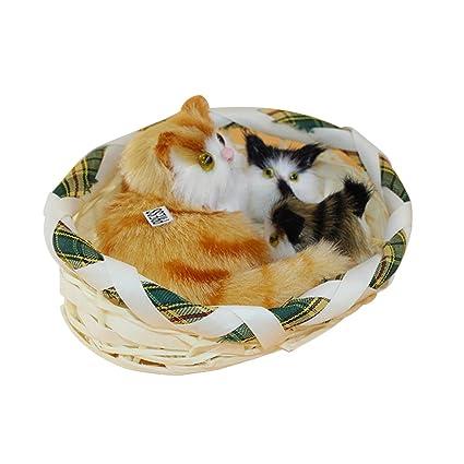 mAjglgE - Cesta de Peluche para Gatos con Sonido simulado, diseño de Animales, Ideal