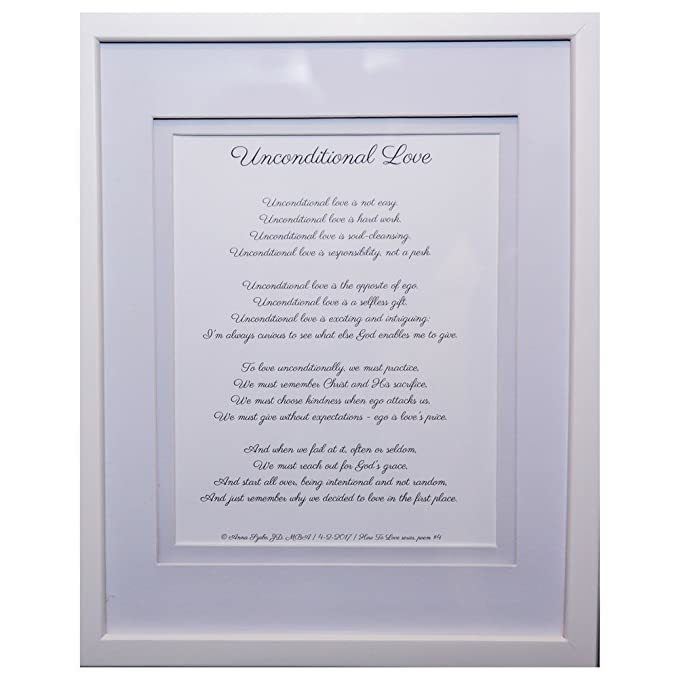 Christian Poems by Anna Szabo #PoemsFromGod Unconditional Love framed poetry for Prayer Hallway