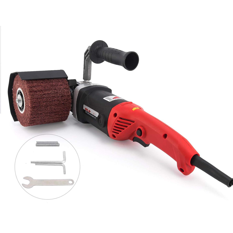 Mophorn 1400W Schleifroller 500-3000 RPM Griff Burnishing Polishing Machine Polierer Schleifmaschiene mit 2 R/ädern 1400 Watt 3000 rpm