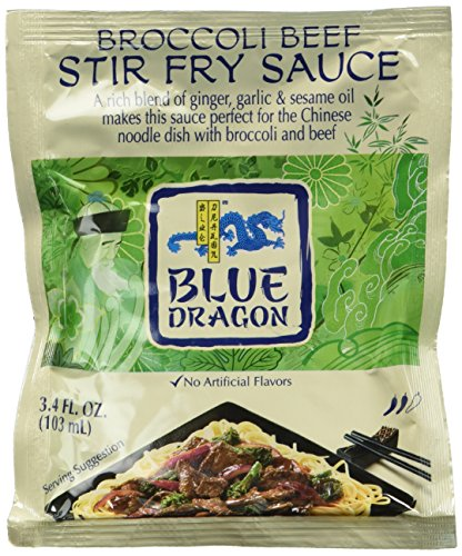 Blue Dragon Stir Fry Sauce, Broccoli Beef, 3.4 Ounce (Pack of 12)