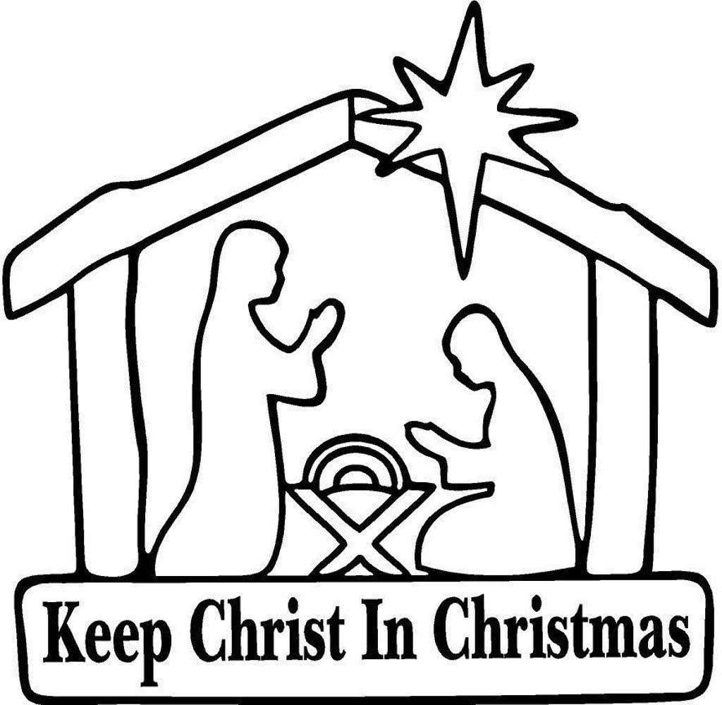 Keep Christ In Christmas Decal Sticker Car Truck SUV Auto Vinyl Jesus Gift Black