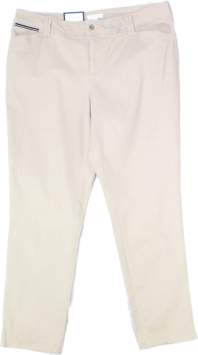 Charter Club Womens Slim Leg High-Rise Chino Pants