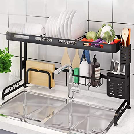 Over The Sink Rack Dish Drying Rack Organizer Fit 33 5 Inchs Sink Lamptop Over Sink Rack Kitchen Storage Shelf Stainless Steel Dish Rack For