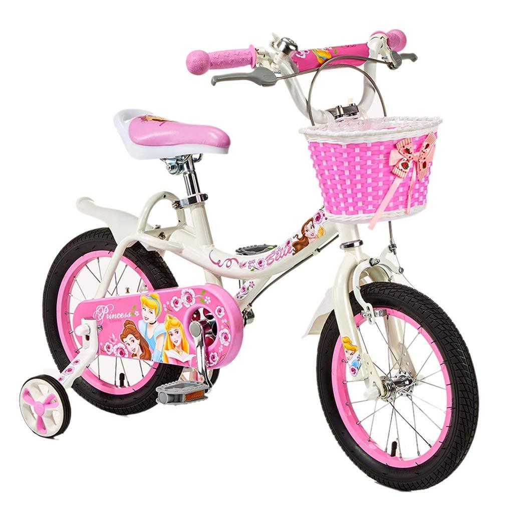 子供の自転車 ファッション子供の自転車 女の子のピンクの屋外自転車 アウトドア旅行子供の自転車 2-8歳の女の子の自転車 (Color : Pink, Size : 16 inches) 16 inches Pink B07Q7GM4TY