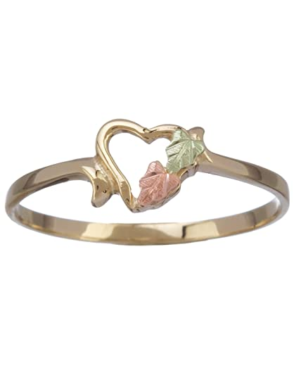 Petite Open Heart Ring in 10k Yellow Gold 12k Rose Gold 12k