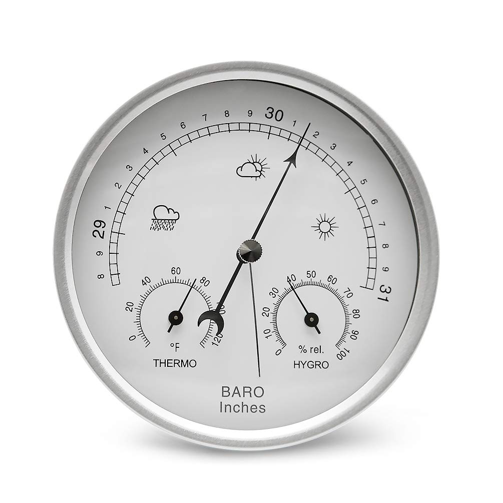 AMTAST Dial Type Barometer Thermometer Weather Station