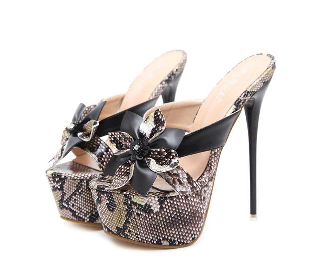 ZXMXY damen Schuhe Stöckelabsatz High Heel Sandaletten Mode Blaumen Wasserdichte Plattform Outdoor-Hausschuhe Flip-Flops Sandalen im Freien