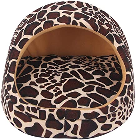 Lili Cama para Perros y Mascotas, cálida, de Material Suave, cestas para Perros, Gatos, Camas para Perros pequeños para Cachorros Chihuahua, One Dog Bed, M 44x32x30cm: Amazon.es: Hogar