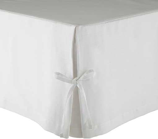 Olivier Desforges Cache Sommier Amboise Lin Blanc 160 X 200 Cm