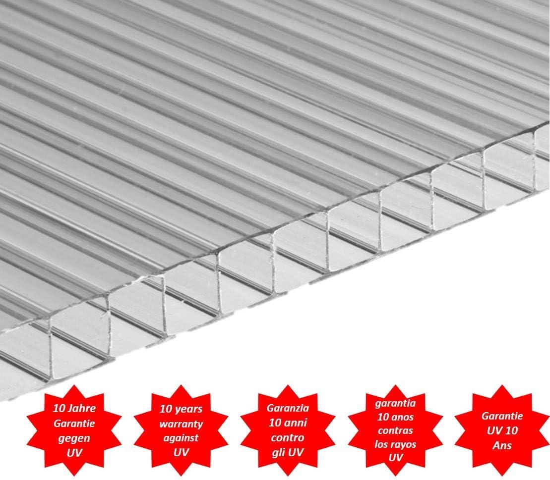Placa/Panel de Policarbonato Alveolar Traslúcido, 4 mm de grosor, 200 x 105 cm: Amazon.es: Bricolaje y herramientas