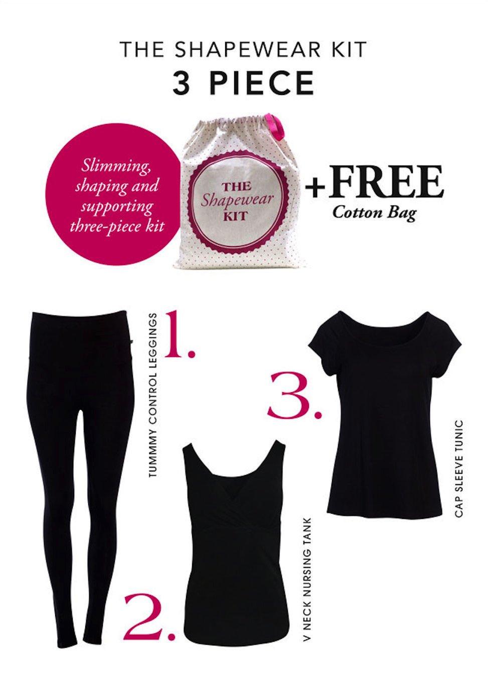 Angel Maternity Shapewear Kit: 3-piece Shapewear for woman kit + Helps achieve that postpartum flat stomach - M