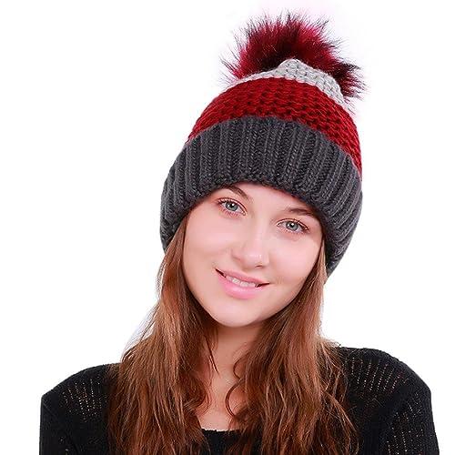 Cappello unisex semplice di modo di OHQ, donne calde del Crochet sciarpa di lana di inverno del capp...