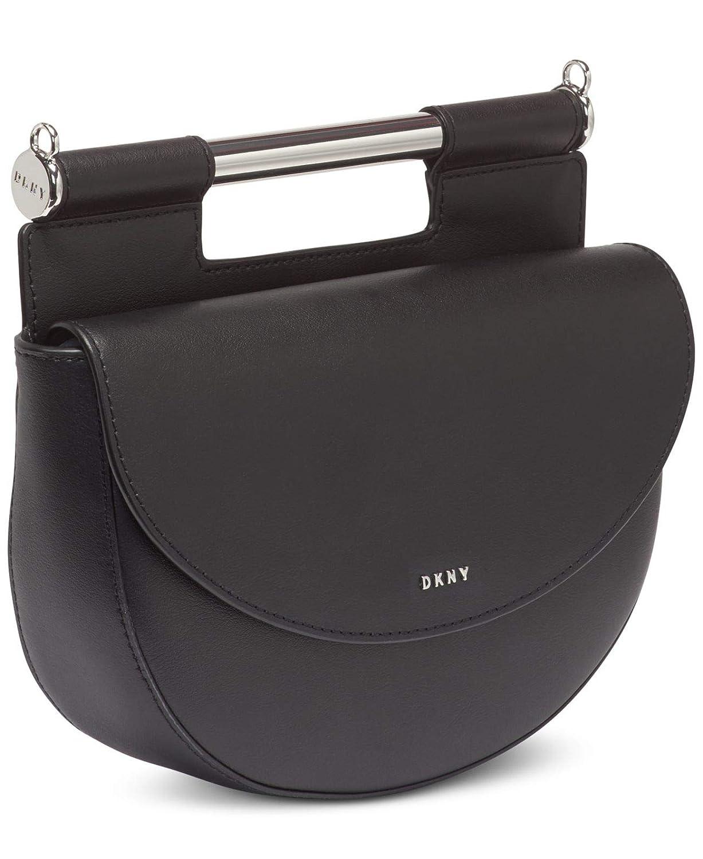DKNY Ursa Genuine Leather Crossbody Saddle Bag Purse: Amazon ...