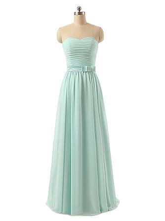 Women\'s Sweetheart Bridesmaid Dress Long Evening Gown (12, Light Sky ...