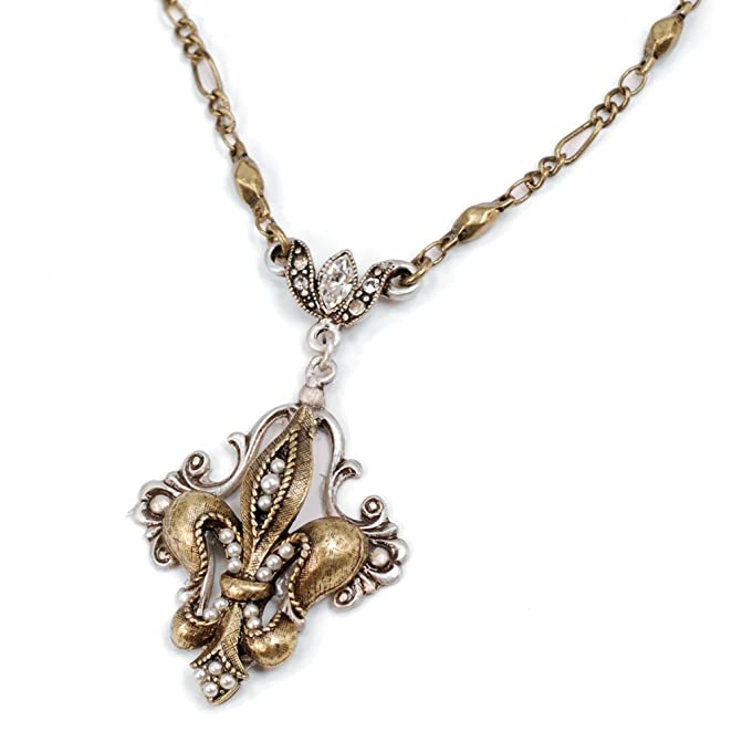 50s Jewelry: Earrings, Necklace, Brooch, Bracelet 1950s Fleur De Lis Necklace French Necklace Fleur De Lis Pendant Paris Necklace 1950s Necklace Fleur De Lis Jewelry Delicate Necklace $36.00 AT vintagedancer.com