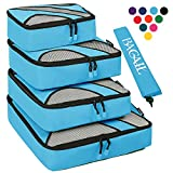 4 Set Packing Cubes,Travel Luggage Packing Organizers with Laundry Bag Blue