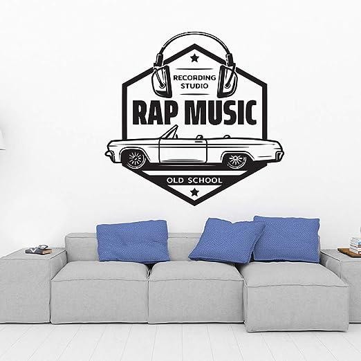 JXND Decoración de la habitación Tatuajes de Pared Estudio de Rap ...