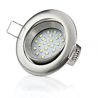 Sweet-led - Set de 6 focos LED empotrables, muy planos, de 5