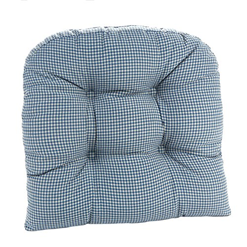 Klear Vu 847441-09 The Gripper Mini Gingham Universal Chair Cushion, Blue, 15