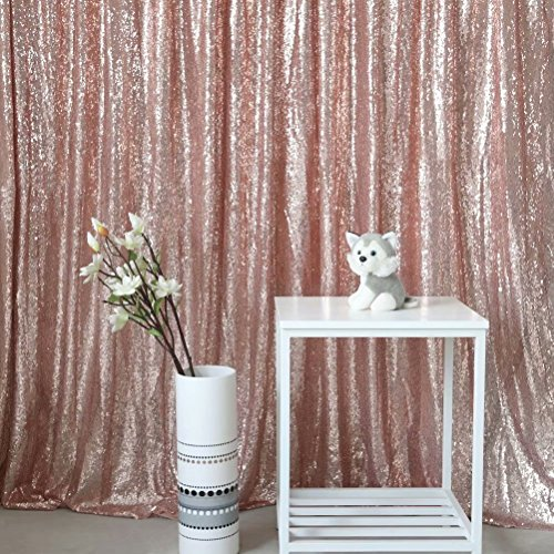 GFCC Wedding Sequin Backdrop, Rose Gold 6ftx6ft Sparkly Photography Backdrop ()