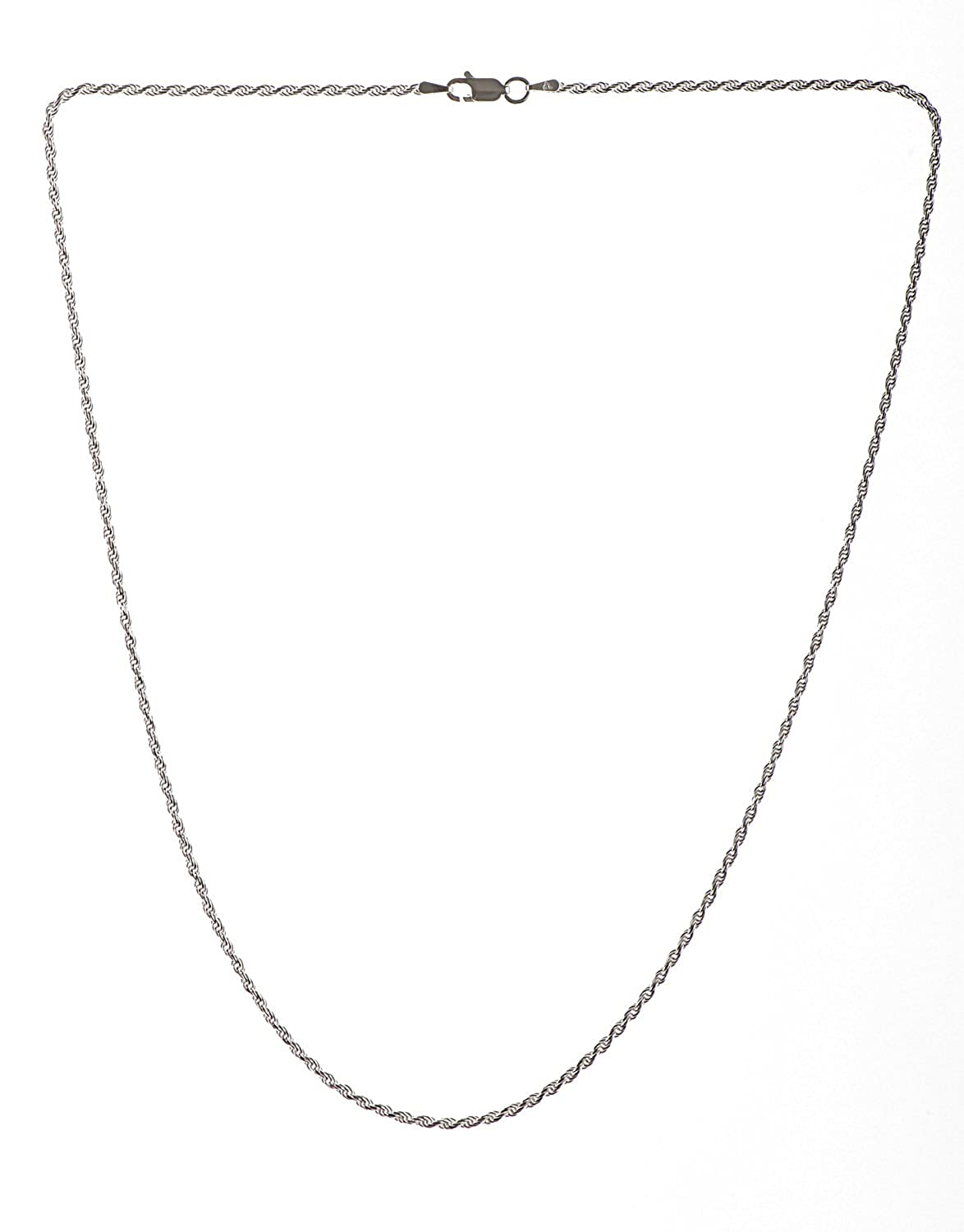 Adara 9ct White Gold Rope Chain of 50.8cm