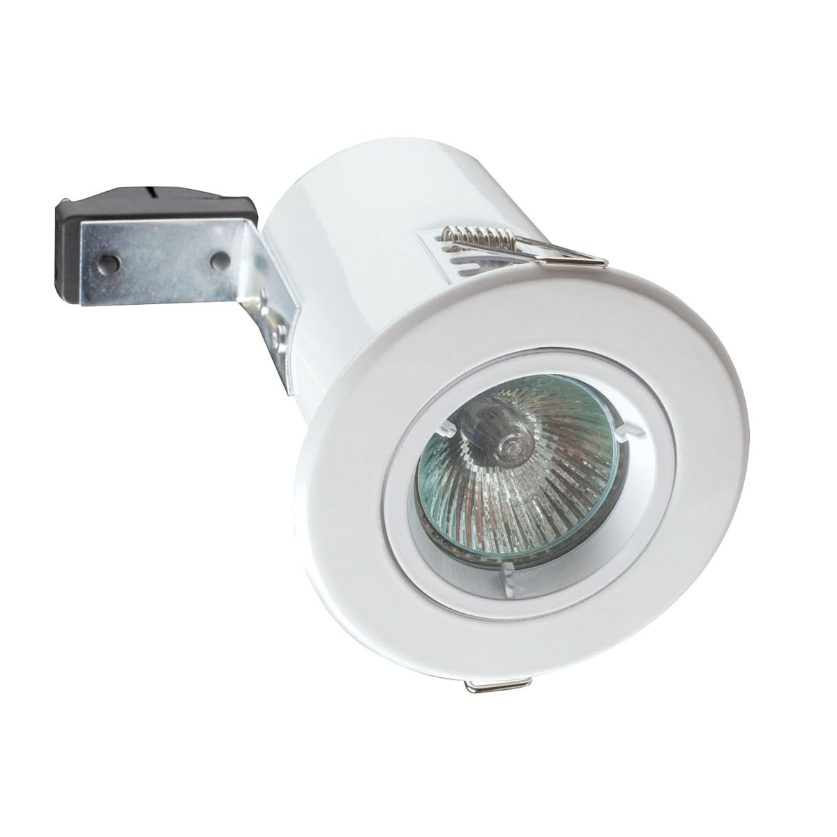 Robus® Adjustable Round Fire Rated Downlight Polished Chrome 240V