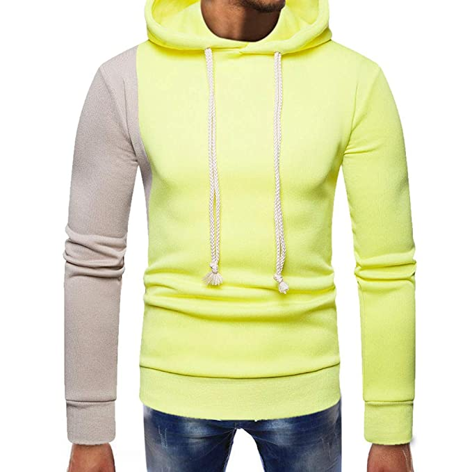 Yvelands Mens Fashion Sweatshirt con Capucha Empalme Pocket Pullover Manga Larga Slim Fit Tops Blusa.: Amazon.es: Ropa y accesorios