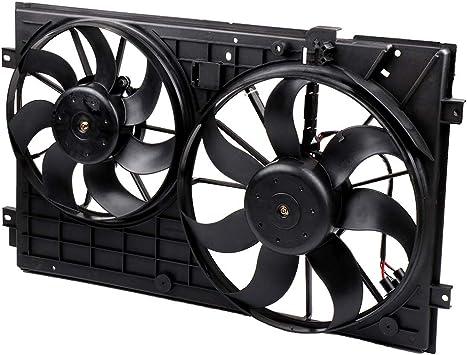TUPARTS Electric Radiator Cooling Fan Fits for Audi A3//A3 Quattro//S3 Volkswagen Beetle Cabrio//Golf SportWagen//Jetta//Passat//Rabbit