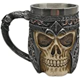 CXAK 3D Stainless Steel Skull Mug for coffee,Beer ,tea or Other Drink