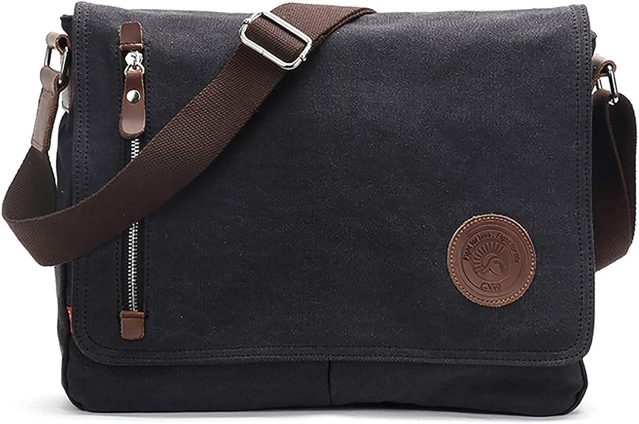 Vintage Men's Canvas Messenger Bag Laptop Shoulder Satchel Crossbody School Bag