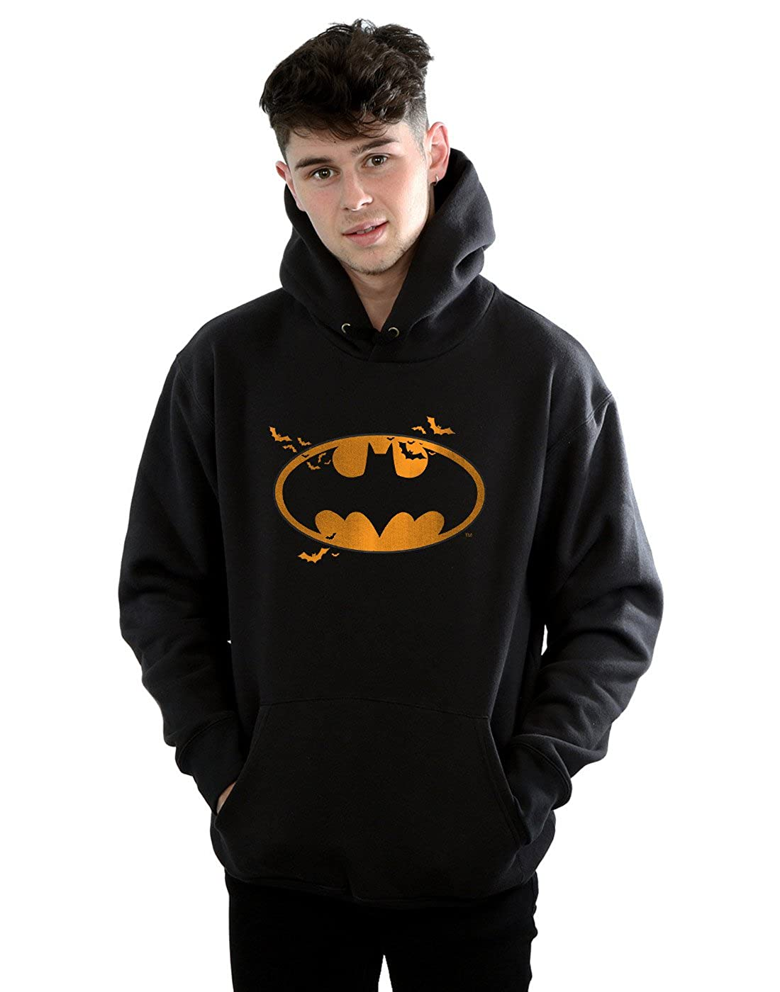DC Comics Herren Batman Halloween Logo Kapuzenpullover