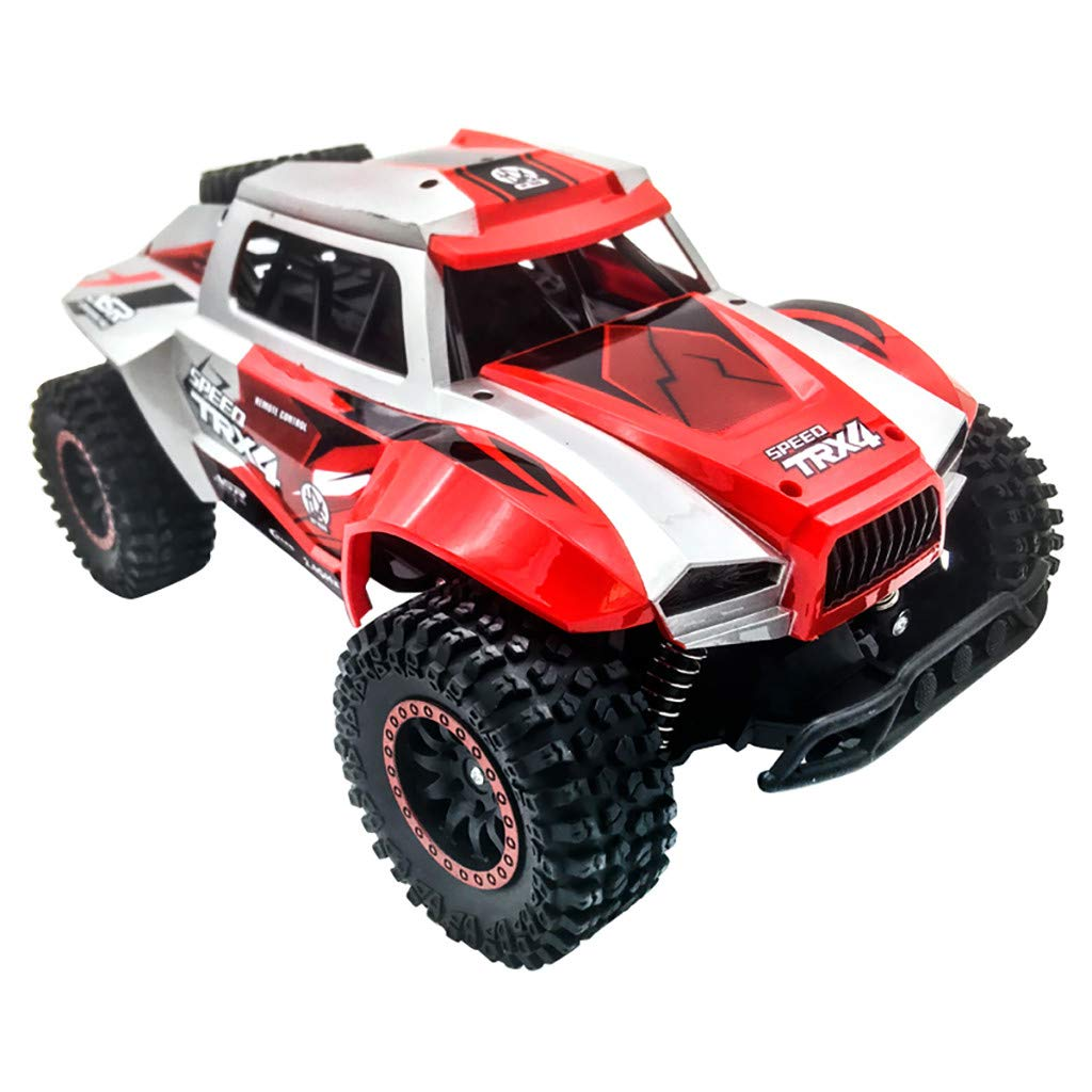 CreazyBee 1:12 Remote Control 2WD RC Trucks 20km/h High-Speed Big-Foot Off-Road Vehicle (Red) by CreazyBee