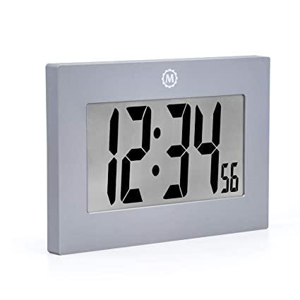 digital wall picture frame 15 inch marathon large digital wall clock with foldout table stand size is inches big amazoncom
