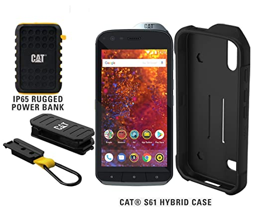 Cat S61 Single Sim 64gb Unlocked Smartphone With 10000mah Rugged Power Bank Cat S61 Hybrid Case North American Variant 2 Year Warranty