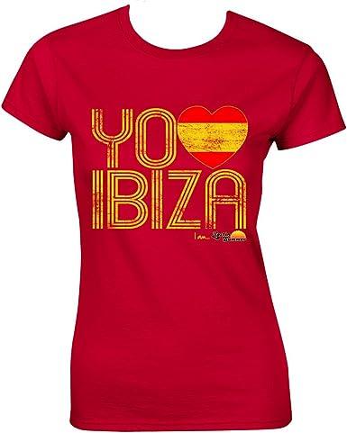 Love Ibiza: Camiseta Mujer España Ama Ibiza - Rojo, L - Large: Amazon.es: Ropa y accesorios