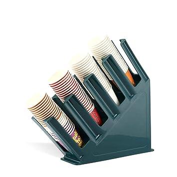 Auto Echo Soporte para Tazas café Taza Tapa dispensador Hülse 4 Compartimento Dispenser Vasos de plástico Soporte para Restaurante acrílico Taza y Tapa ...