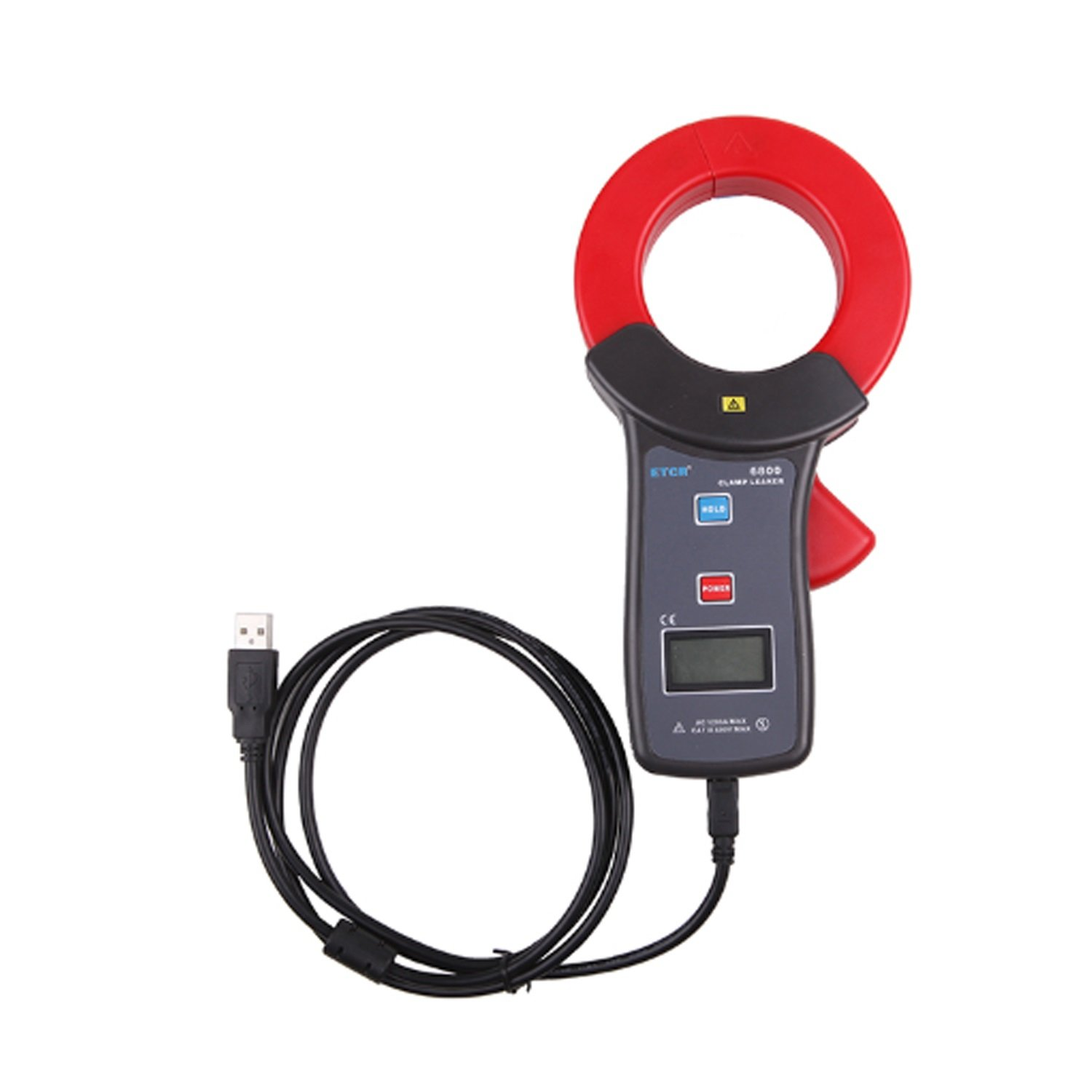 Lanlanmaoyimg Ammeter High Accuracy Clamp Leaker Meter 0.00mA~1200A with USB ETCR6800 Precision Measurement