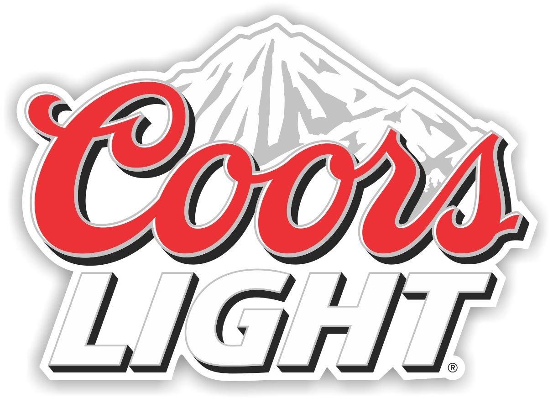 Amazon com coors light beer vinyl sticker decal logo full color bar man cave 3 long home kitchen