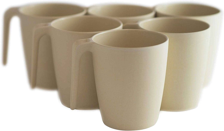 Natura Green- Bamboo Mugs- Set of 6-13 oz (390 ml) each