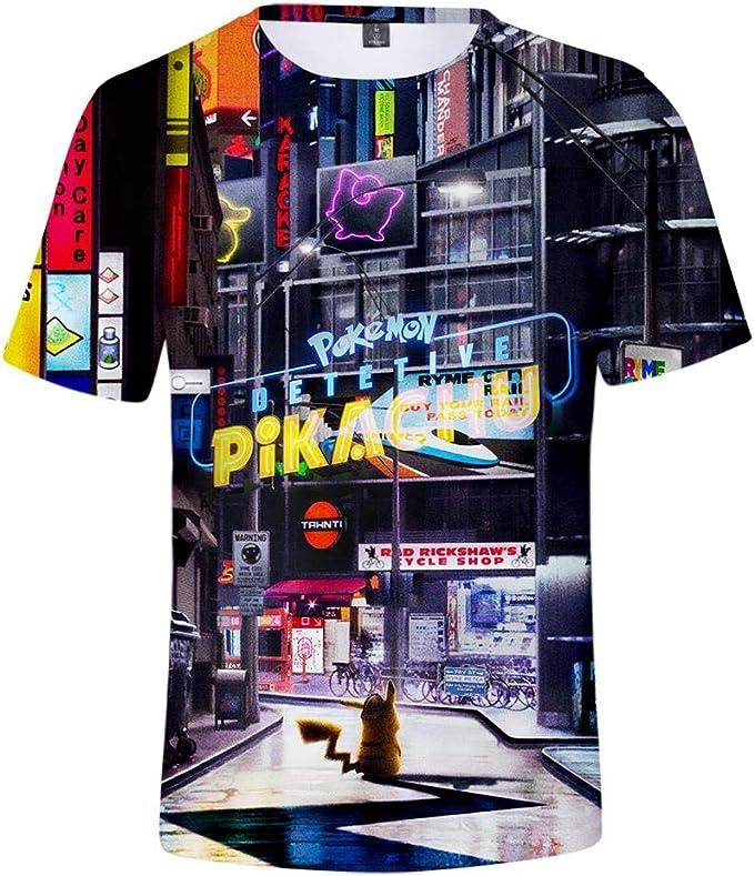 Camisetas, Unisex Pikachu Anime Tema Juventud Cuello Redondo ...