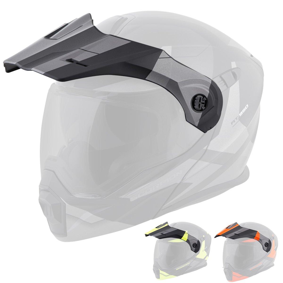 Scorpion Peak Visor Exo-AT950 Motorcycle Helmet Accessories - Matte Black/One Size