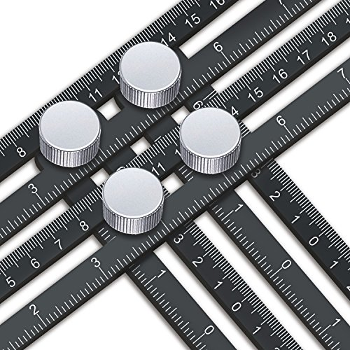 Template Tool - Template Tool, UBeesize Premium Aluminum Alloy Multi-Angle Measuring Ruler with Unique Line Level for DIY, Carpenters, Craftsmen