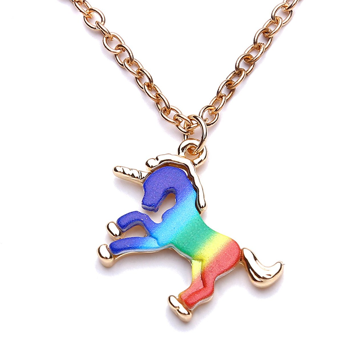 EJY Colorful Unicorn Bracelet Chain Wristband and Unicorn Necklace for Girls Women Gifts (bracelet) 88_Store