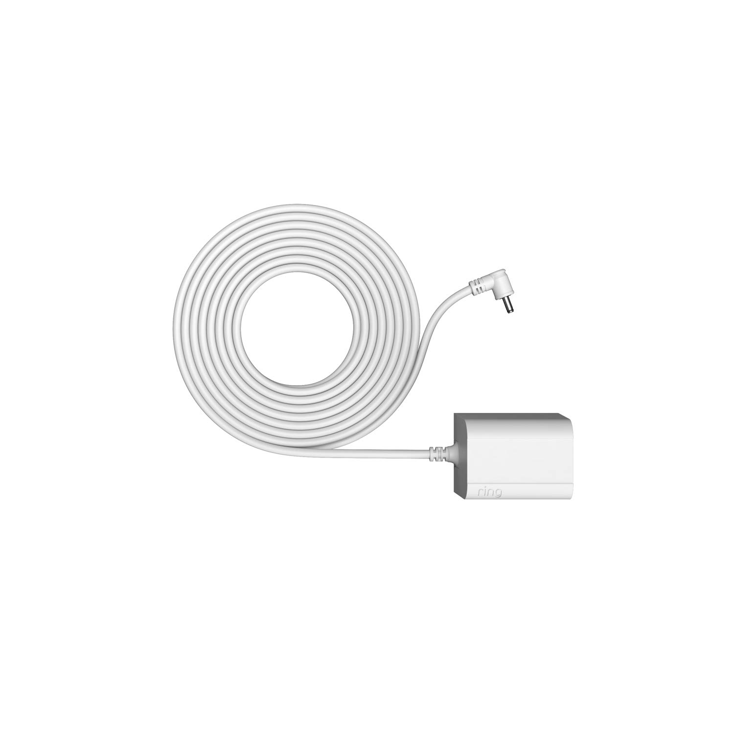 Indoor/Outdoor Power Adapter Barrel Plug for Ring Stick Up Cam Plug-In - White