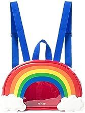 Zarapack Women's Transparent Rainbow Clear Backpack IT Bag Purse