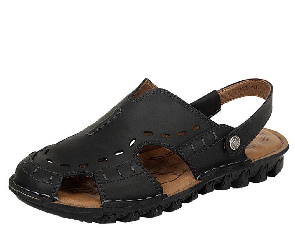 insun Hombre Casual correa Cruz de piel sandalia 40 EU|negro