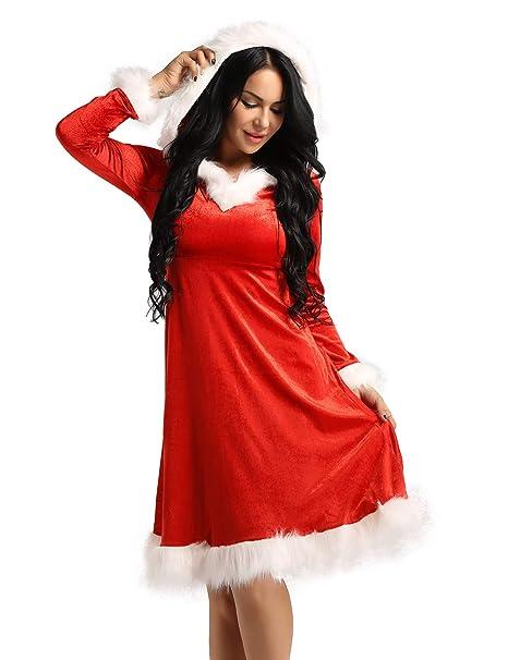 Amazon.com: ACSUSS - Vestido con capucha para mujer, diseño ...
