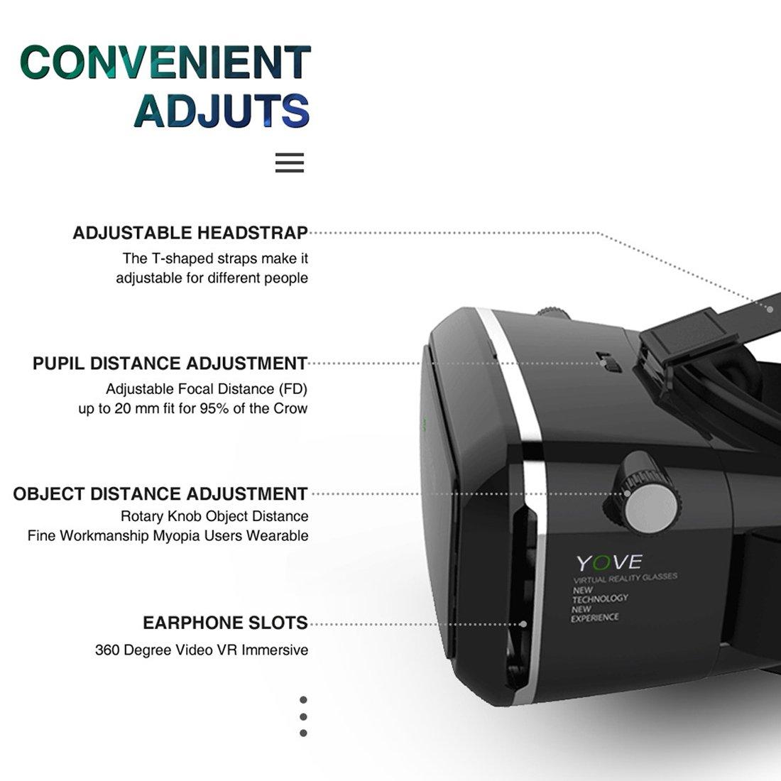 144e82325322 Kaotoer 3D VR Glasses VR Headset Movie Visor 3D Vr  Amazon.in  Electronics