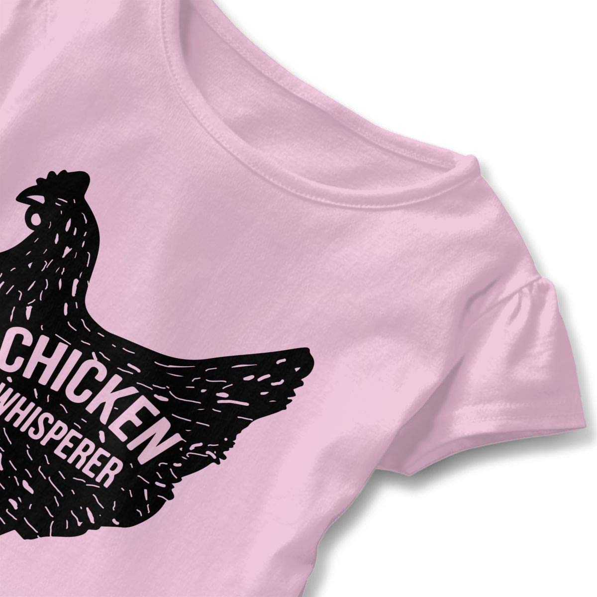 Chicken Whisperer Kids Girls Short Sleeve Ruffles Shirt T-Shirt for 2-6T