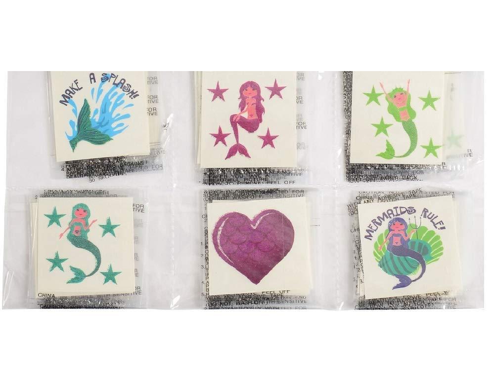 Novelty Treasures Mythical Set Mermaid Glitter Stickers and Mermaid Glitter Tattoos